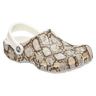 Classic Snake-Printed Clogs