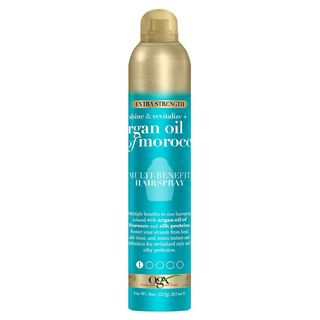 Revitalize + Argan Shine Extra Strength Multi-Benefit Heat Protection Hairspray