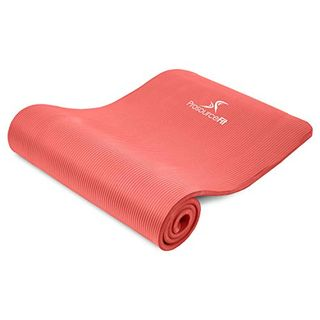 "Extra Thick Yoga and Pilates Mat 1/2"" - Red"