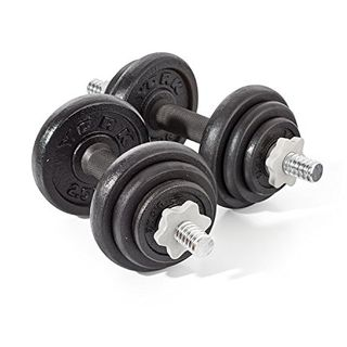 York Fitness 20 kg Cast Iron Spinlock Dumbbell Set
