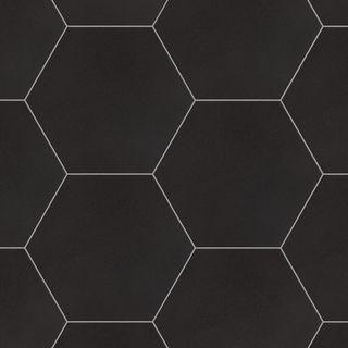 Azulejo de porcelana para piso y pared de textil negro hexagonal de 8-5 / 8 pulg. X 9-7 / 8 pulg. (11.56 pies cuadrados / caja)