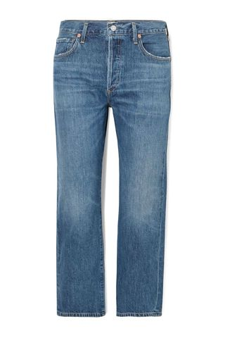Emery cropped organic high-rise straight-leg jeans