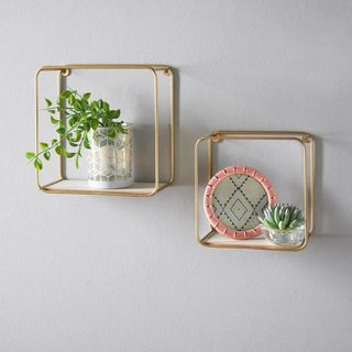 Metal Wire Floating Wall Shelf