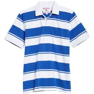 NOAH x Birdwell Stripe Rugby Polo