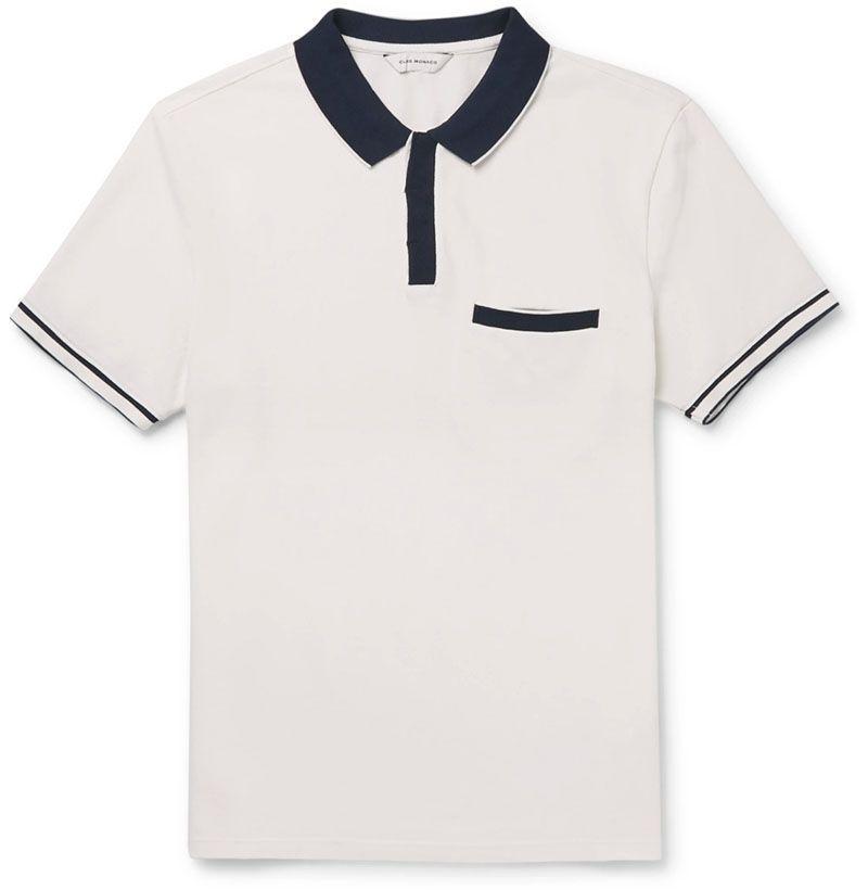 Contrast-Tipped Piqué Polo Shirt