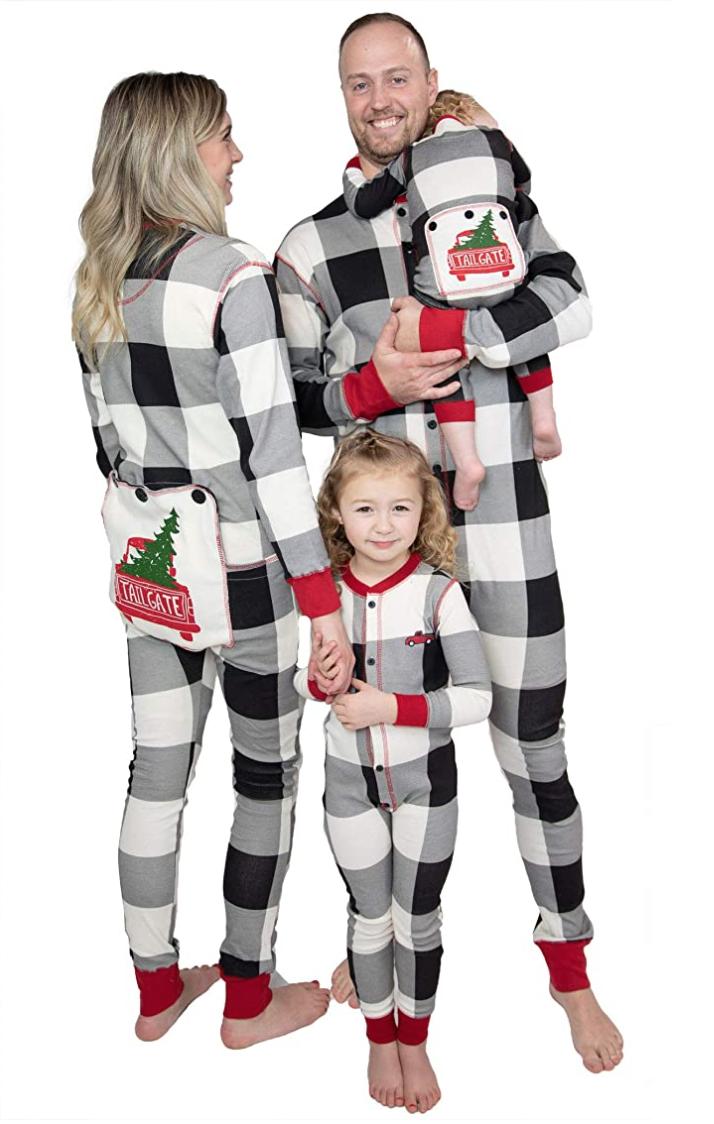 Christmas Pajamas for Family XGao Christmas Matching Family Pajamas Set 2020 Santa Printed Long Sleeve T Shirt Blouse Tops and Plaid Pants Outfits Xmas Sleepwear for Women Men Kids Boys Girls
