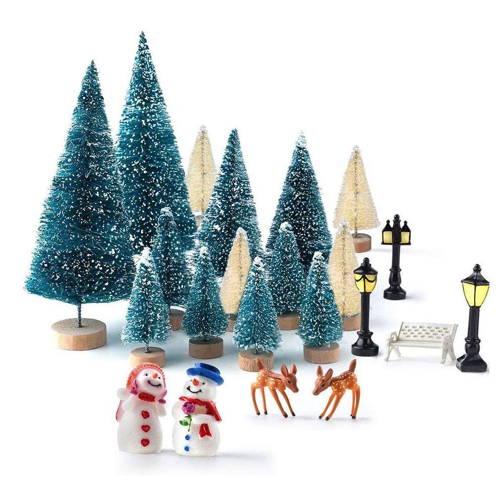 sahnah Christmas Light Ornaments EVA Dolls Old Colorful Lights