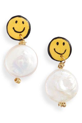Smiley Freshwater Pearl Earrings
