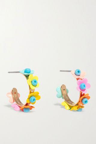 In Full Bloom Hoop Earrings