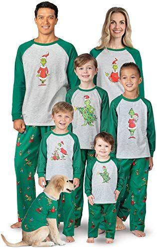 Lit Matching Family Christmas Pajamas Full Family Matching Xmas PJ Sets
