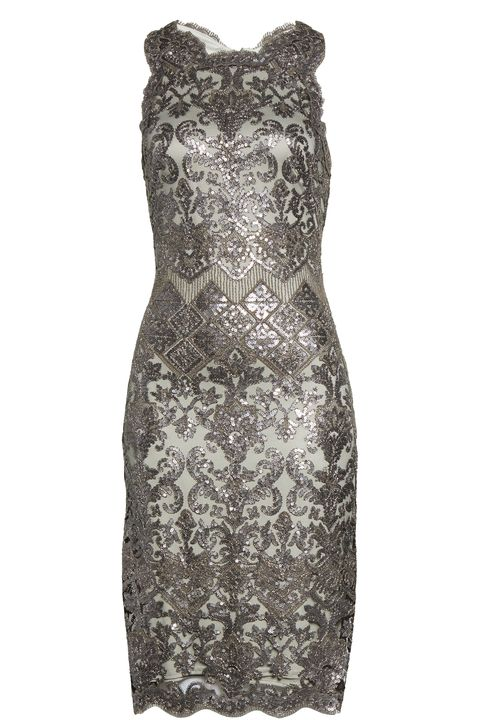 what to wear fall wedding - Sequin Lace Cocktail Dress