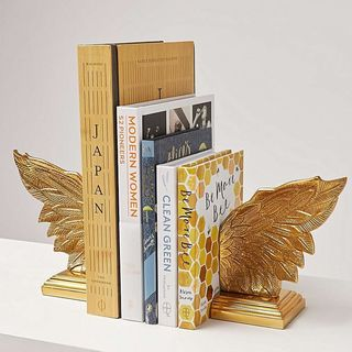 Metallic Wings Gold Book Ends