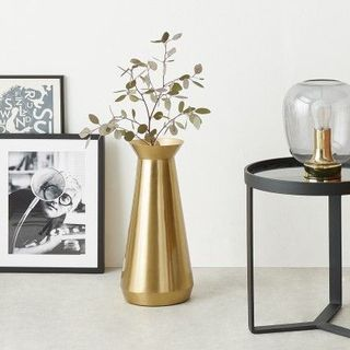 Beaumont Extra Large Conical Vase, Brushed Brass