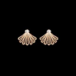 Deco Fan Pearl Earrings