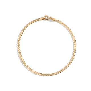 Medium Gold Curb Chain Bracelet