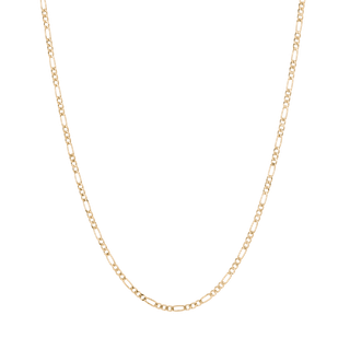 Medium Gold Figaro Chain Necklace