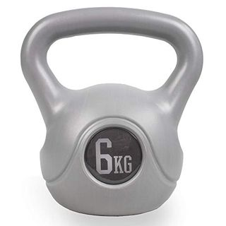 Phoenix Fitness Silver Vinyl Kettlebell – 6kg