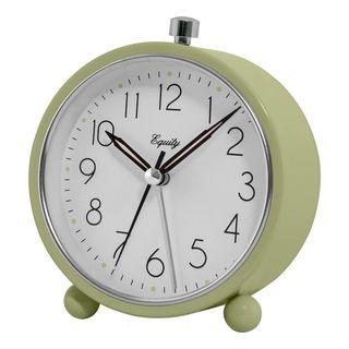 Round Quartz Metal Alarm Clock