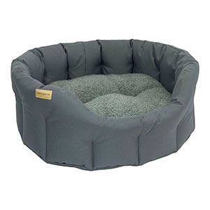 Earthbound classic waterproof dog bed gray