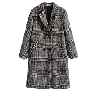 Long Checkered Coat