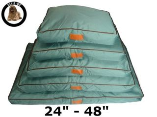 Ellie-Bo Waterproof Dog Beds in Green - Custom Made for Cages and Crates (34