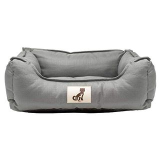 AllPetSolutions Dexter Beds Soft Waterproof Washable Durable Basket Dog Bed (M, Gray)