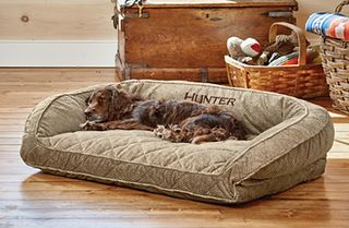 Orvis ComfortFill-Eco ™ upholstered dog bed