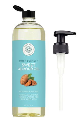 Pure Body Naturals Almond Oil for Hair and Skin