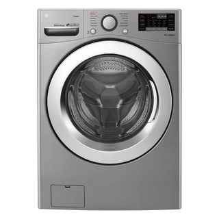 LG Electronics.  Highly efficient large intelligent front loading washing machine with steam and Wi-Fi function