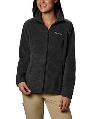 Женская флисовая куртка Benton Springs на молнии во всю длину Columbia, темно-серый вереск, большие размеры США