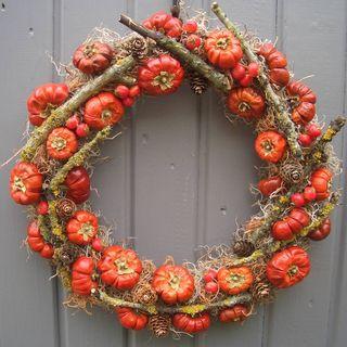 Autumn Halloween Pumpkin Wreath