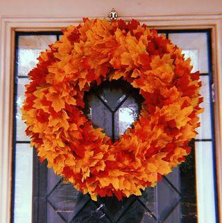 Autumn/ Fall Maple Leaf Faux Wreath