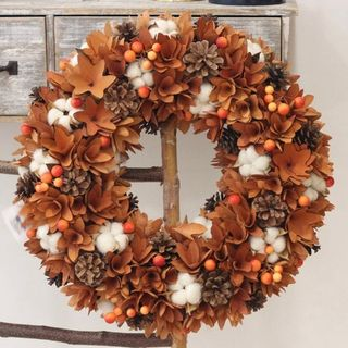 Fall Autumn artificial wreath decoration