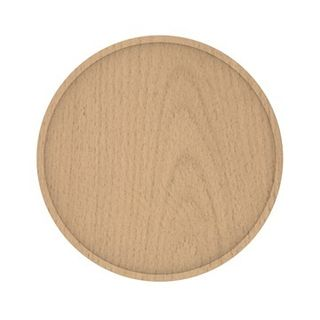 Round Niki dished timber cabinet handle