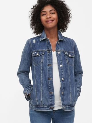 Maternity Icon Distressed Denim Jacket, £59.95
