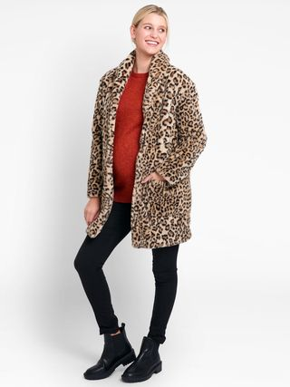 Leopard Faux Fur Maternity Coat, £69