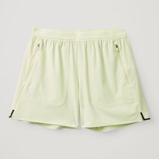 Technical running shorts made from recycled polyester