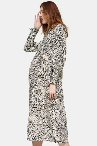 Animal Print Ruched Shirt Dress, £39