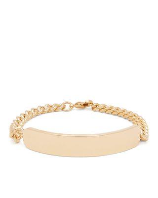Darwin curb-chain metal bracelet