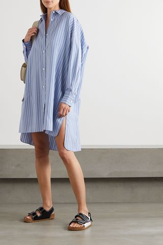 Macali oversized striped silk shirt, £640