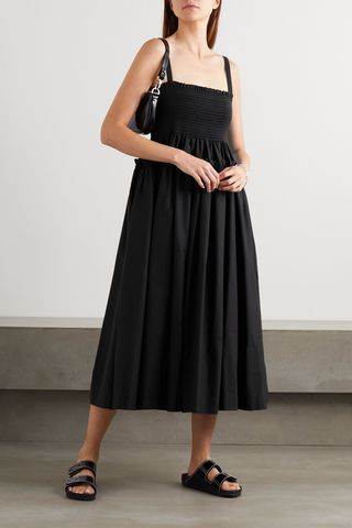 Marlene shirred tiered cotton midi dress, £800