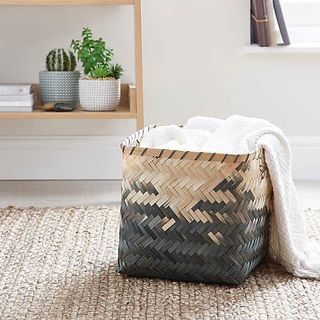 Black Bamboo Ombre Basket