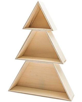 Étagère de Noël en bois