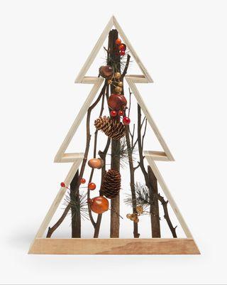 Décoration d'arbre à cadre en bois Bloomsbury, orange