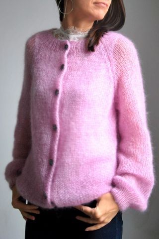 Pink soft mohair silk sweater, £143