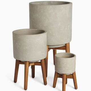 Grey on Legs Planter