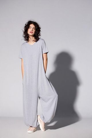 Grey Women maxi plus size jumpsuit, £83.76
