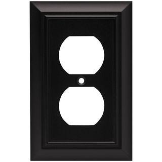 Flat Black Switch Plate