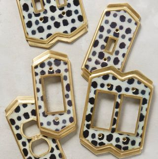 Dotted Ames Switch Plate