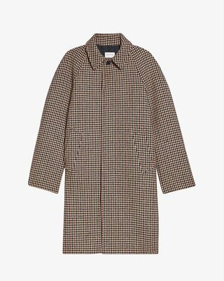 Camille houndstooth woven coat